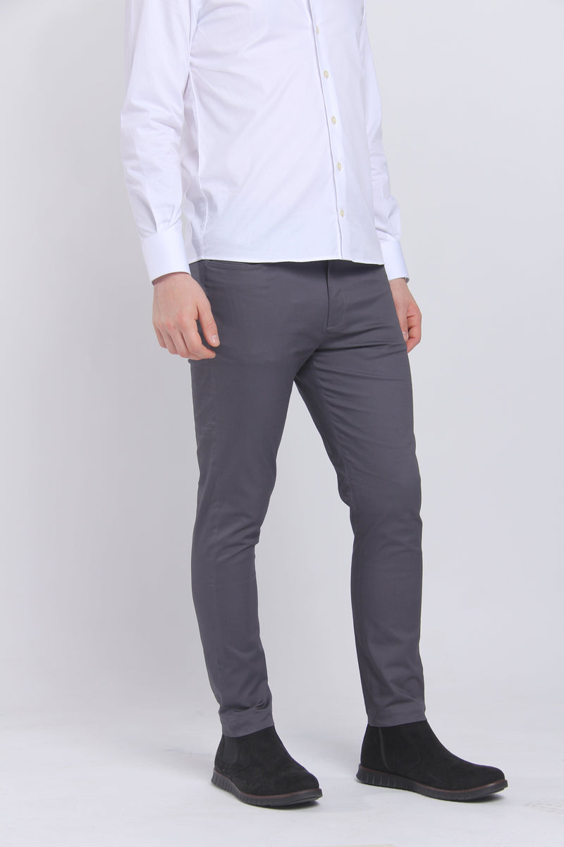 The Getaway Chino Charcoal Chino Under 5'10