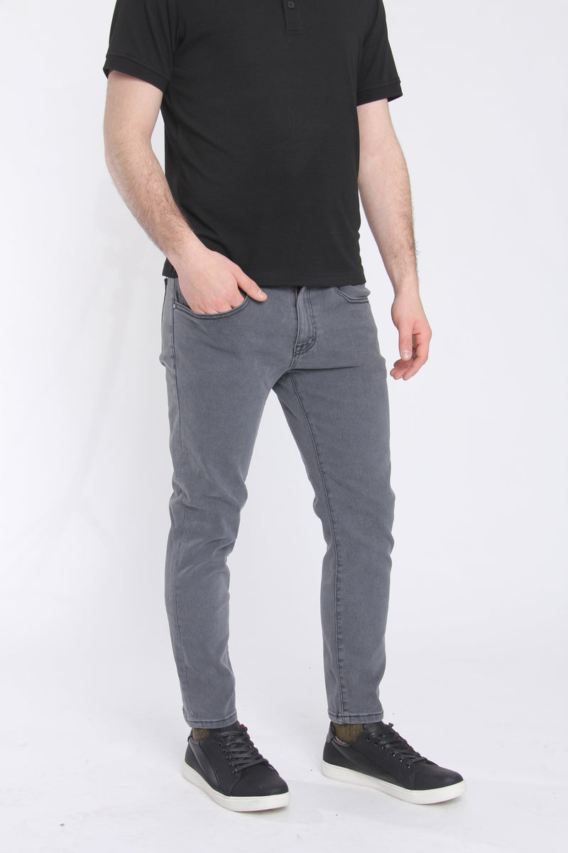Kingston 2.0 Slim Tapered Xtreme Stretch Jeans Gray Jeans Under 5'10