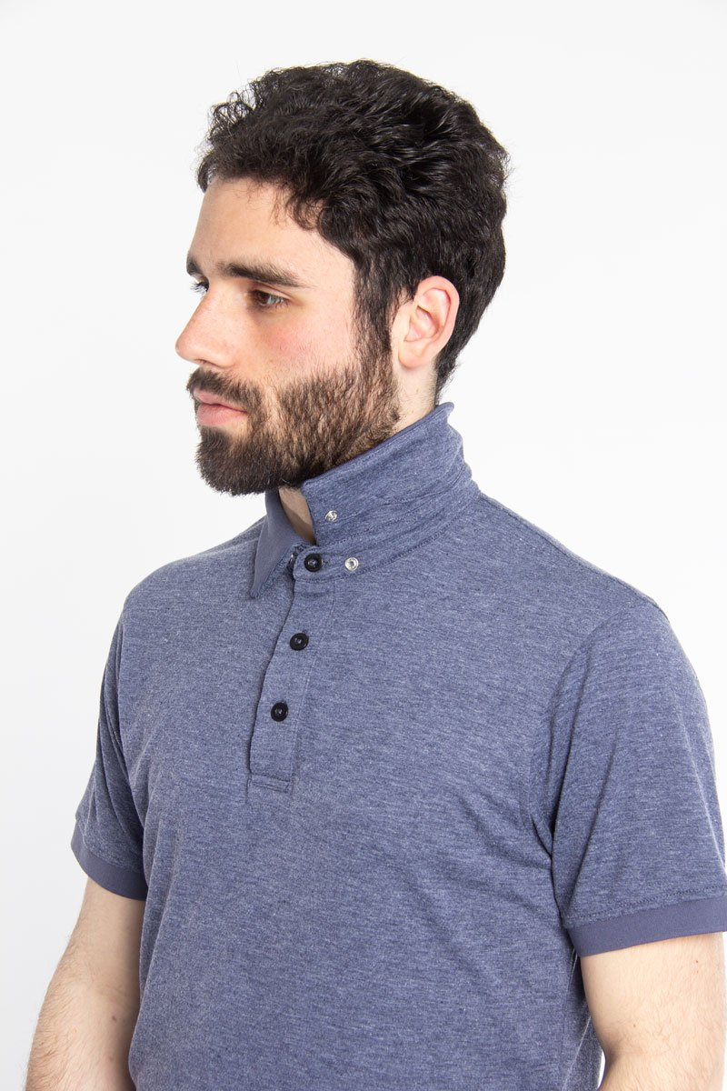 Ultra Soft Polo Blue Melange
