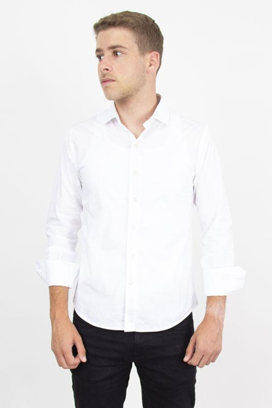 Button Down Dress Shirt White Pinpoint Oxford Dress Shirts Under 5'10 XS