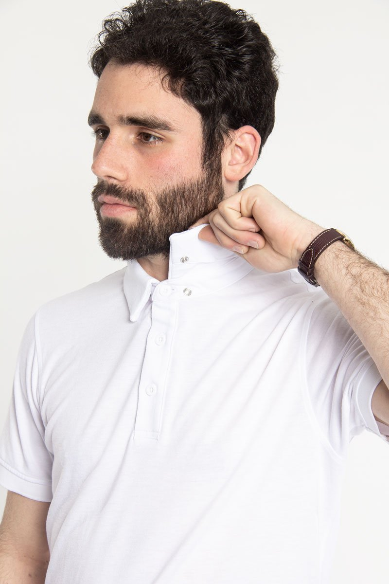Ultra Soft Polo White Polos Under 5'10