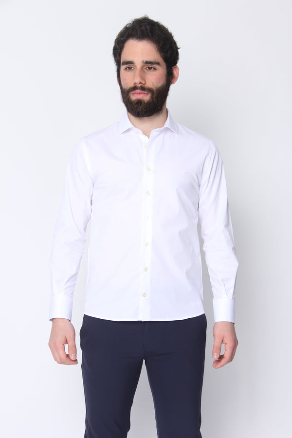 Button Down Dress Shirt White Twill Dress Shirts Under 5'10 XS