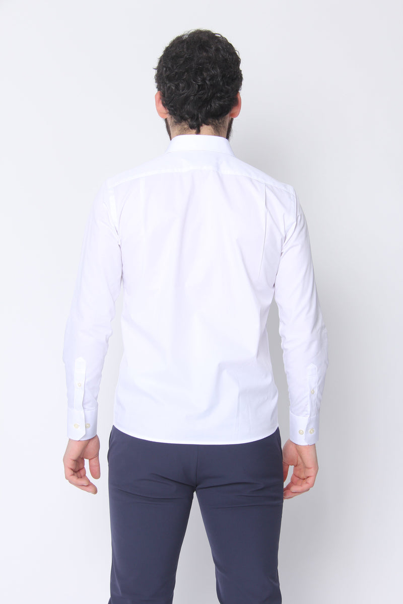Button Down Dress Shirt White Twill Dress Shirts Under 5'10