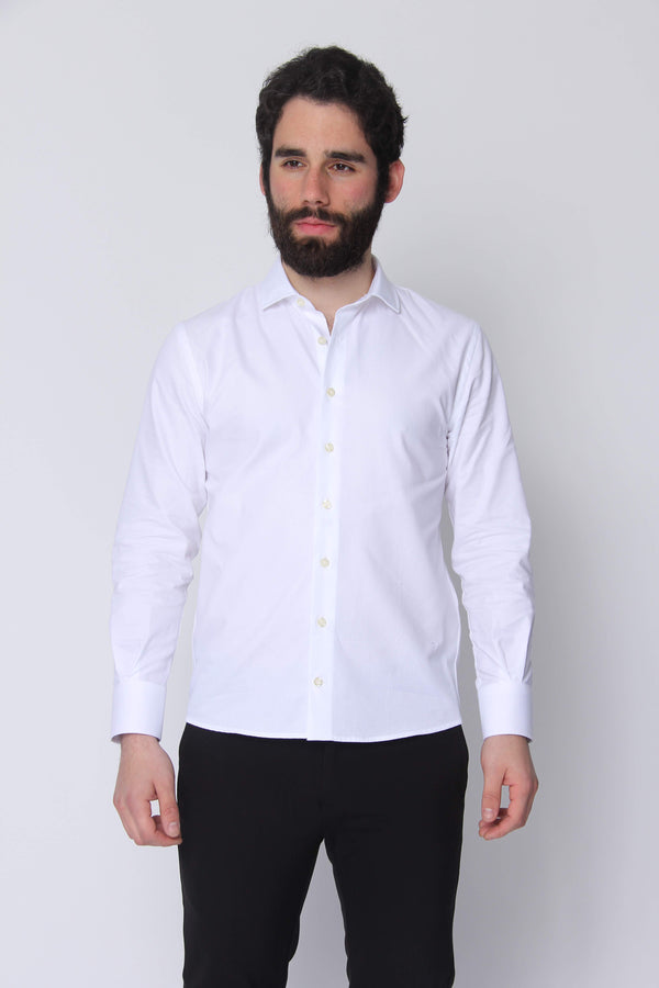 Button Down Dress Shirt White Heavy Twill Button Down Shirt Under 5'10 XS