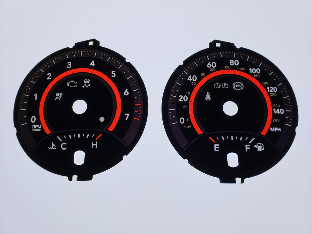 Us Speedo OEM Dodge Journey 140 MPH Gauge Face ONLY for 2011 to 2016 Standard