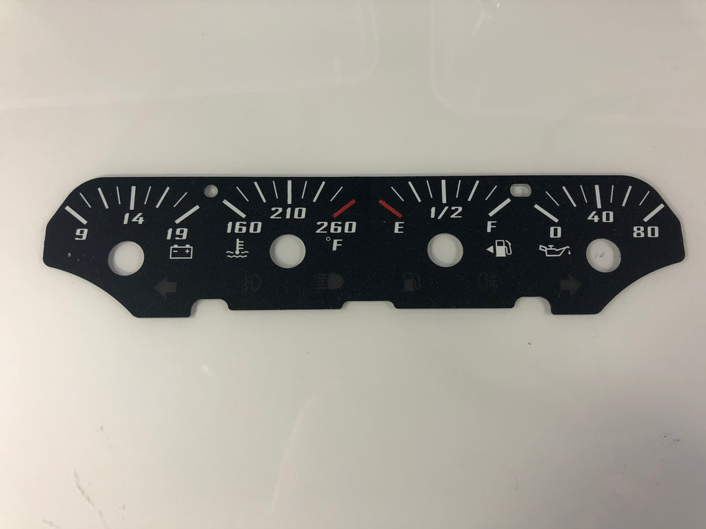 2014-2018 Chevrolet Silverado/ Tahoe/ Avalanche Speedometer Conversion Center Gauge Face