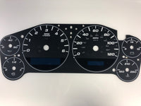 2007-2013 Chevrolet Silverado/Tahoe/ Avalanche Speedometer Conversion Gauge Face MPH with Large Font