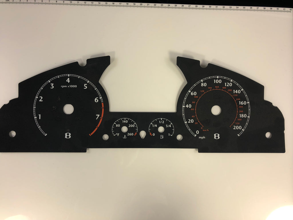 2006 Bentley Continental Speedometer Conversion face