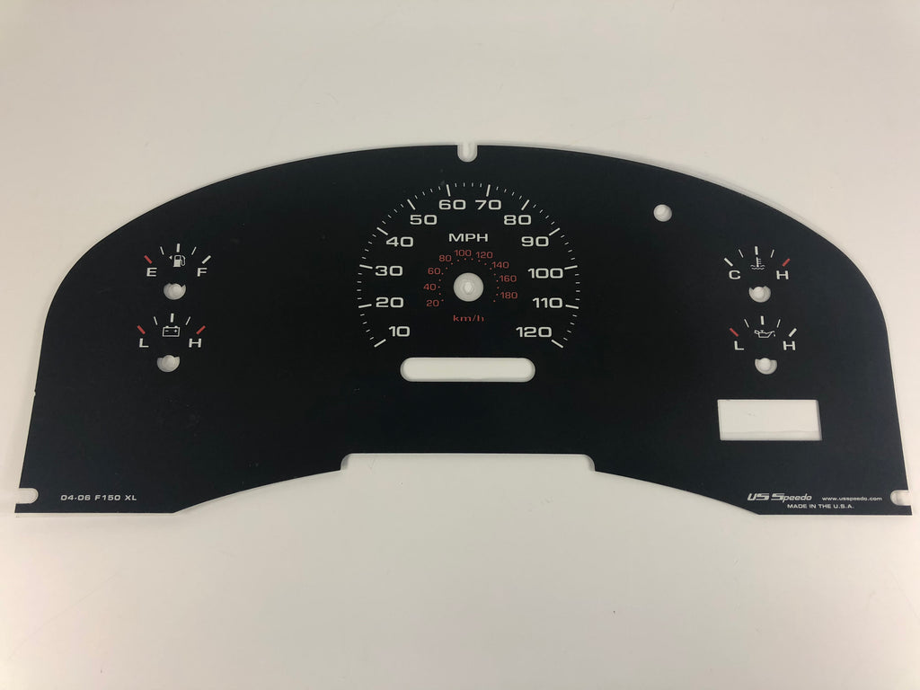2004-2006 FORD F150 XL Model Speedometer Conversion Gauge Face MPH