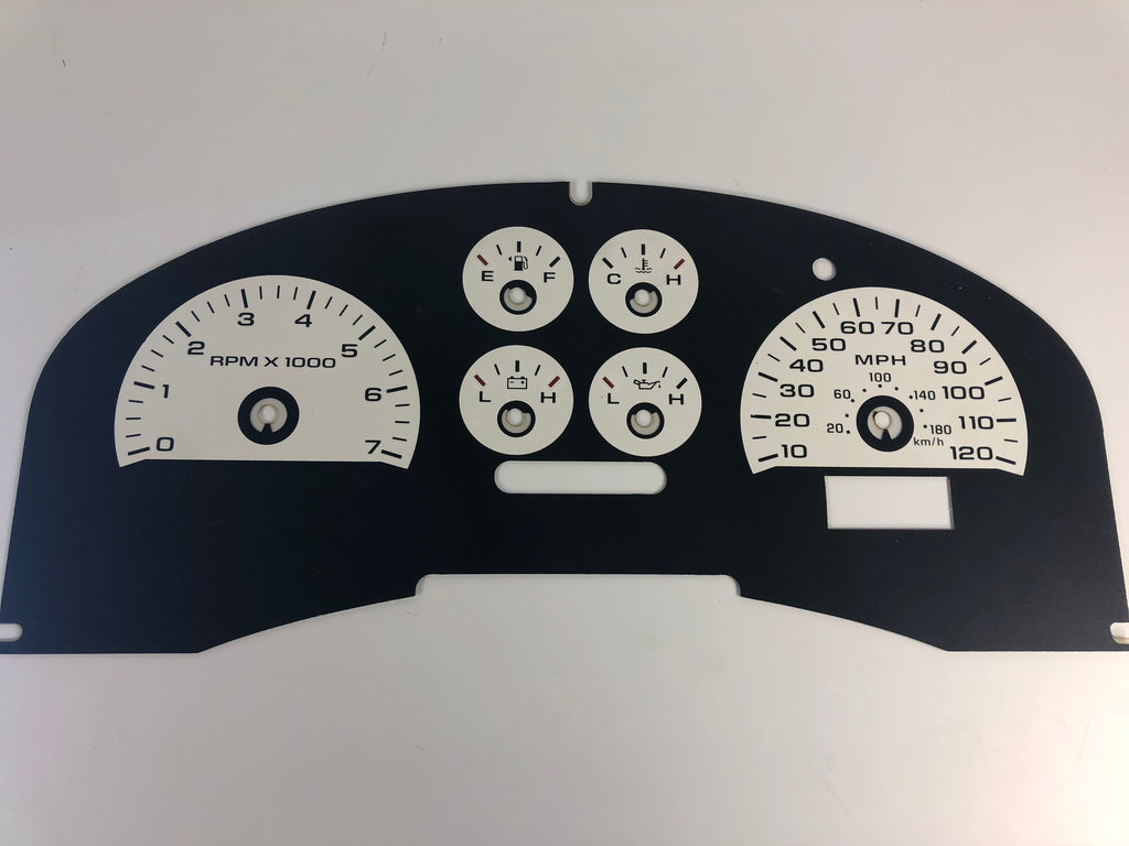 2007-2008 Ford F150 FX4 Speedometer Conversion Gauge Face MPH