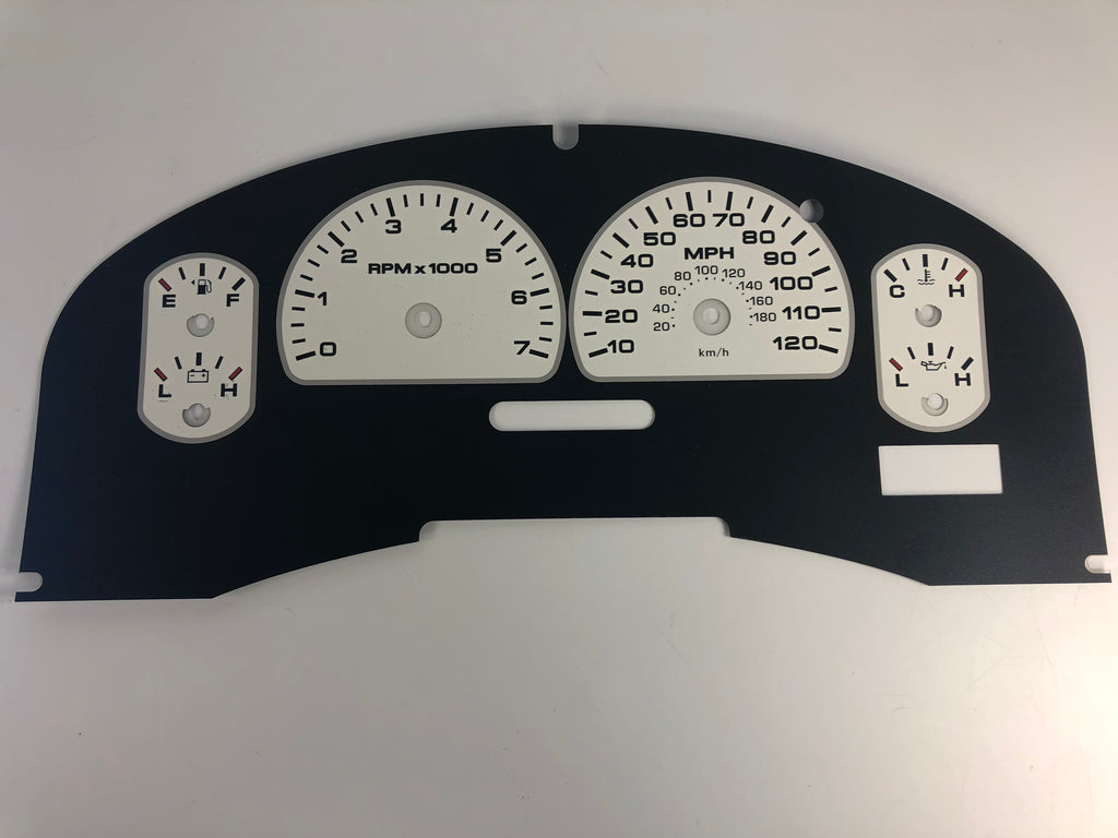 2007-2008 Ford F150 XLT Speedometer Conversion Gauge Face MPH
