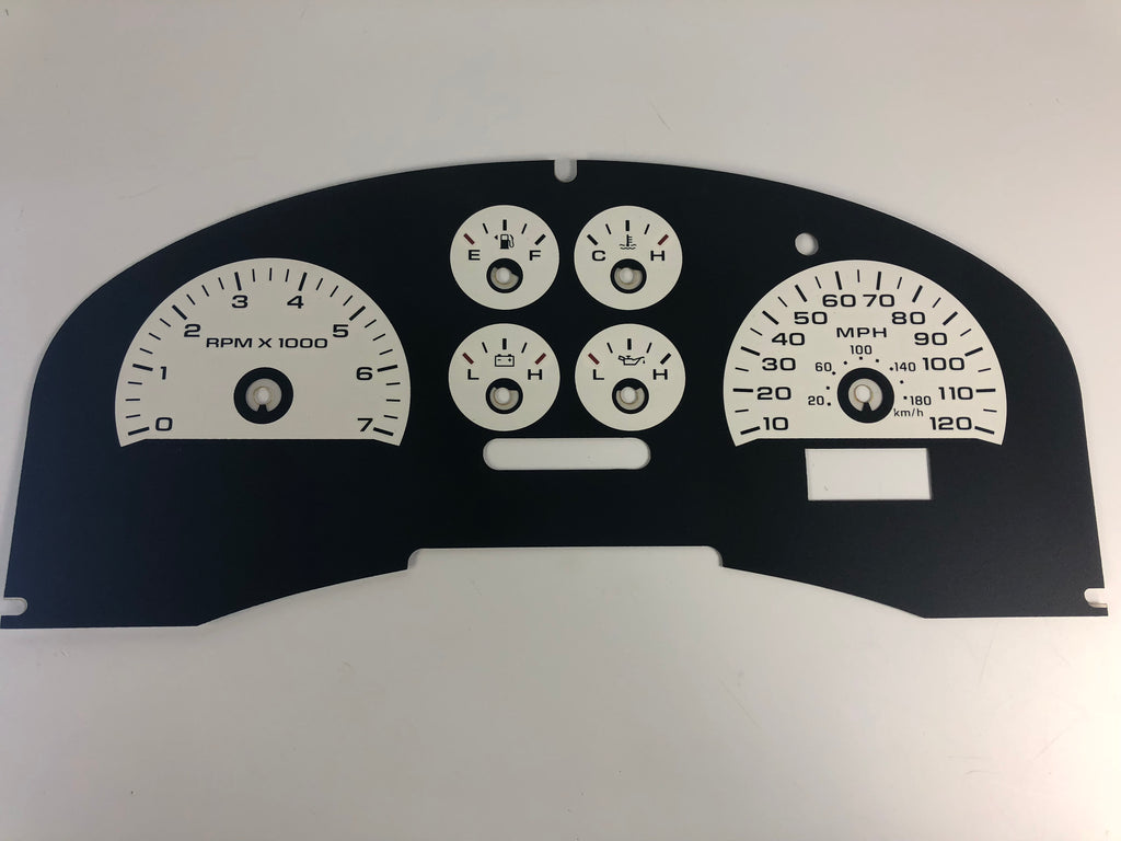 2004-2006 Ford F150 FX4 Model Speedometer Conversion Gauge Face MPH