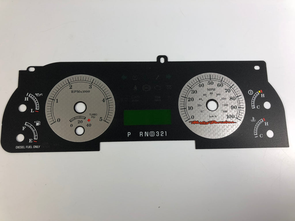 2005-2007 Ford F250/F350 Harley Davidson Edition Speedometer Conversion Gauge Face