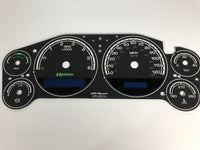 2007-2013 Chevy Silverado Hybrid MPH Conversion Gauge Face. (Also Fits: Chevy Tahoe, Avalanche, Surburban, & GMC Sierra Hybrid Models)