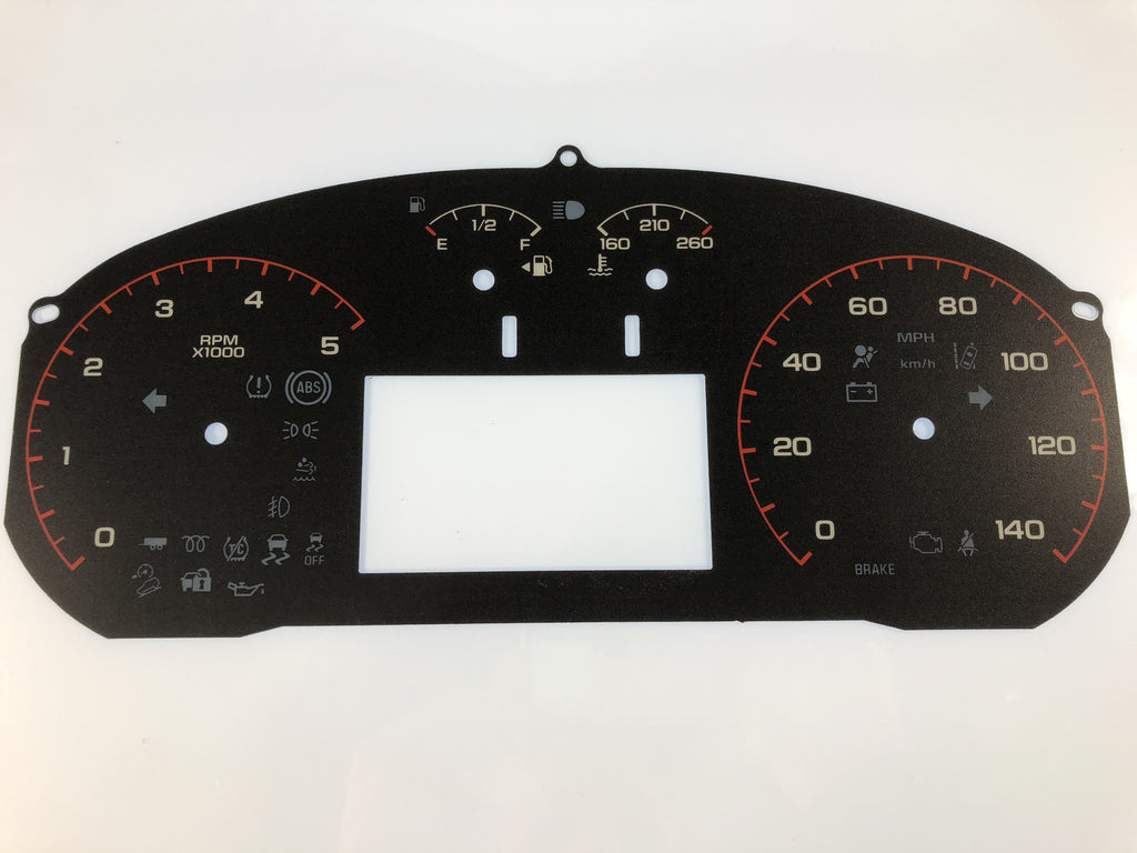 2016-2017 GMC Canyon MPH Conversion Gauge Face