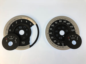 2013-2017 Dodge Ram Diesel MPH Conversion Gauge Face (Large Display Screen)