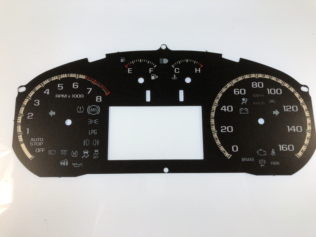 2016-2017 Chevy Cruze MPH Conversion Gauge Face