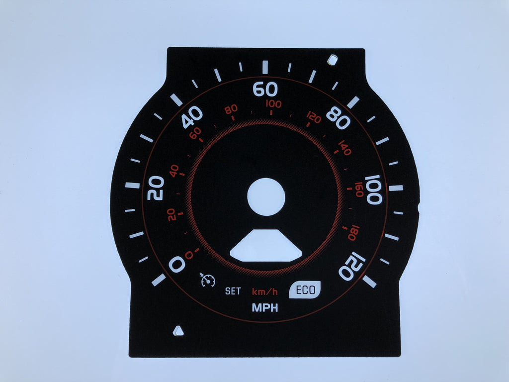 2012-2014 Toyota 4 Runner MPH Conversion Gauge Face