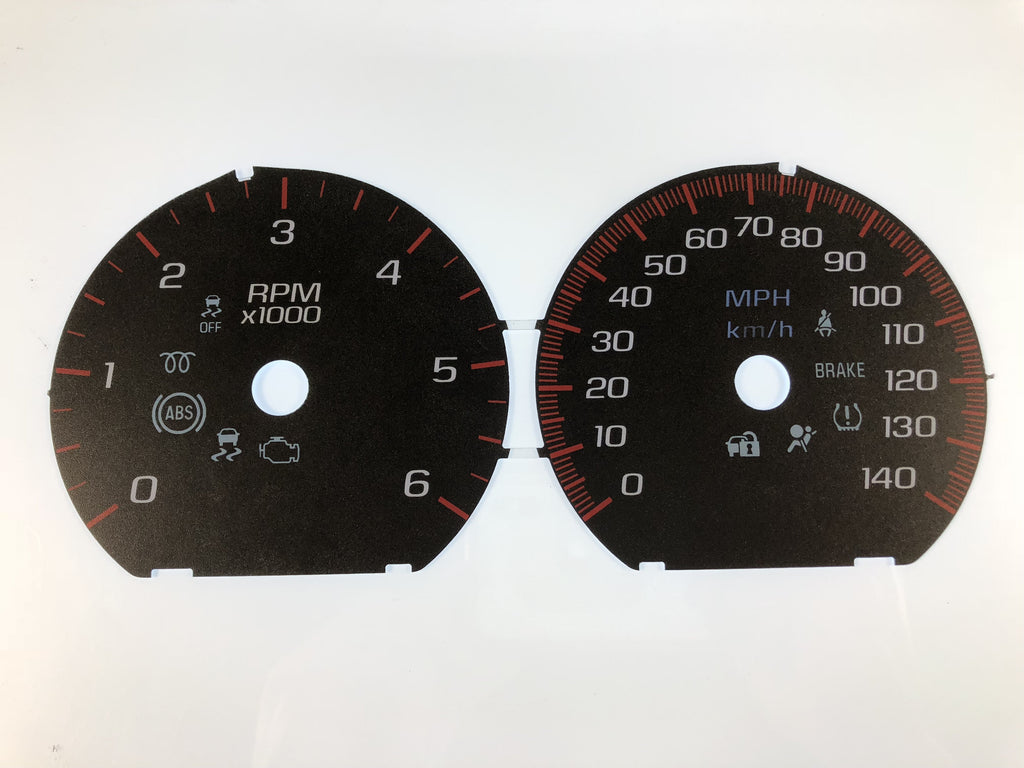 2014-2017 GMC DENALI Truck & SUV PACKAGE MPH Conversion Gauge Faces