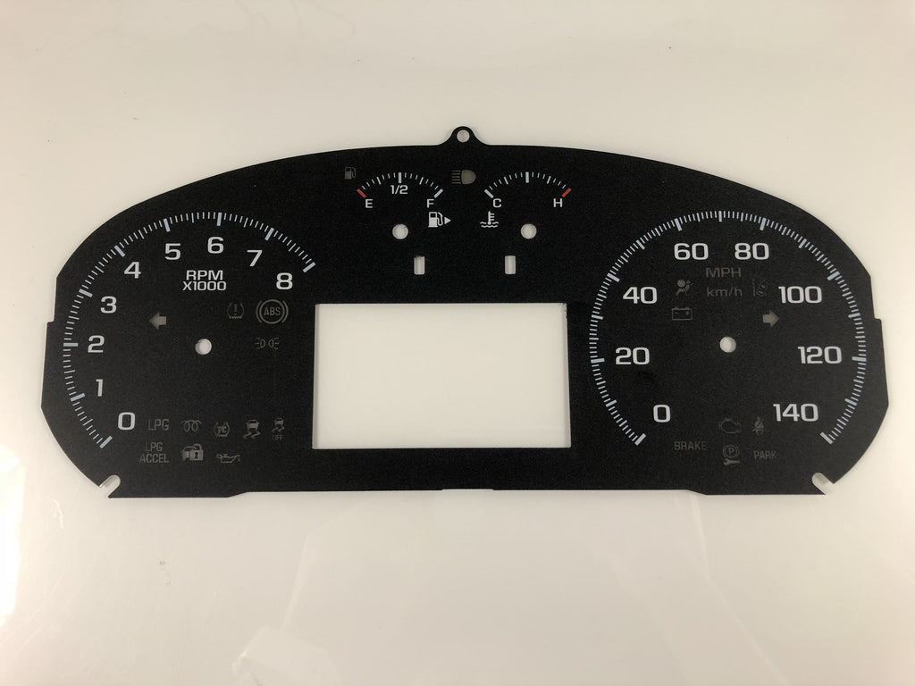 2014-2016 Chevy Impala MPH Conversion Gauge Face