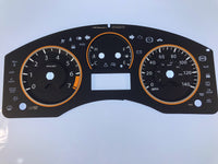 2008-2013 Nissan Titan MPH Conversion Gauge Face (4 Gauge)