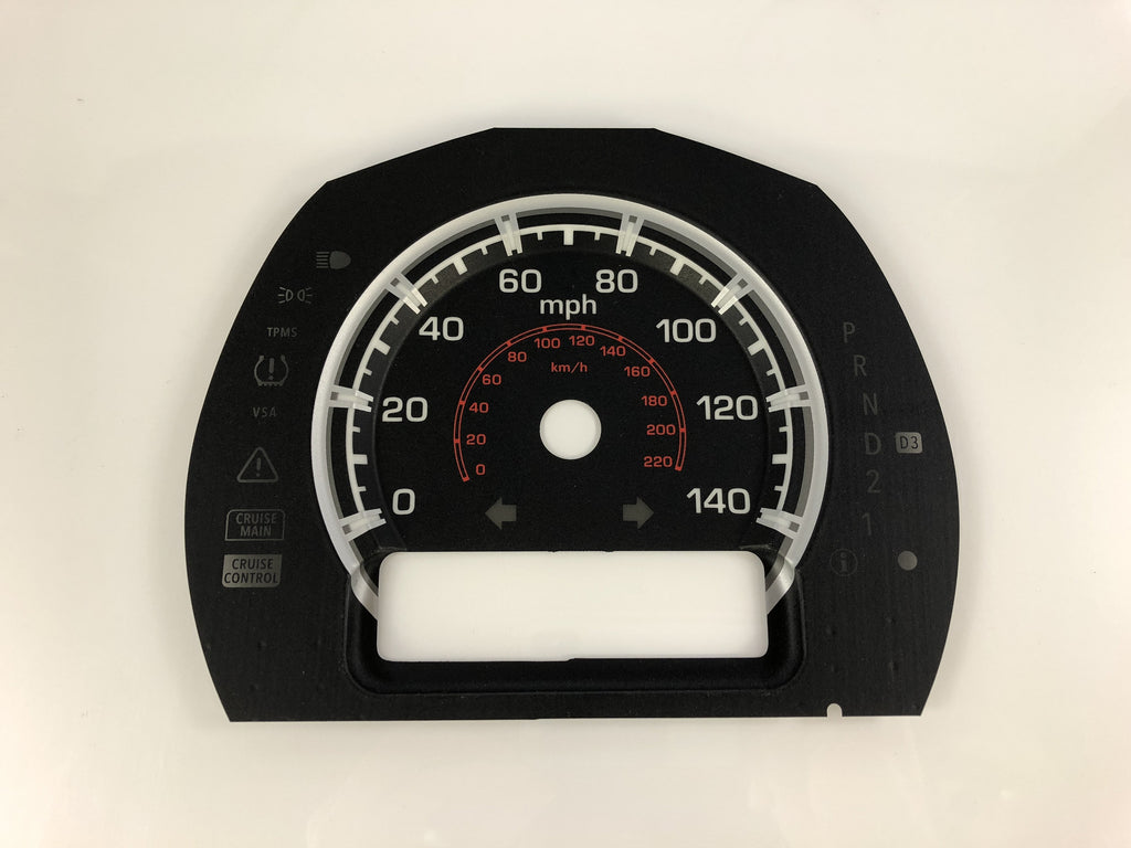 2010-2015 Honda Ridgeline MPH Conversion Gauge Face