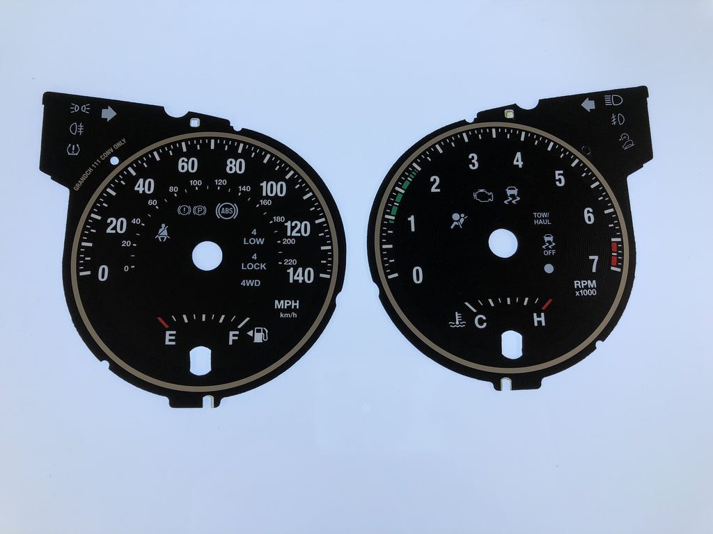 2011-2013 Jeep Grand Cherokee MPH Conversion Gauge Face