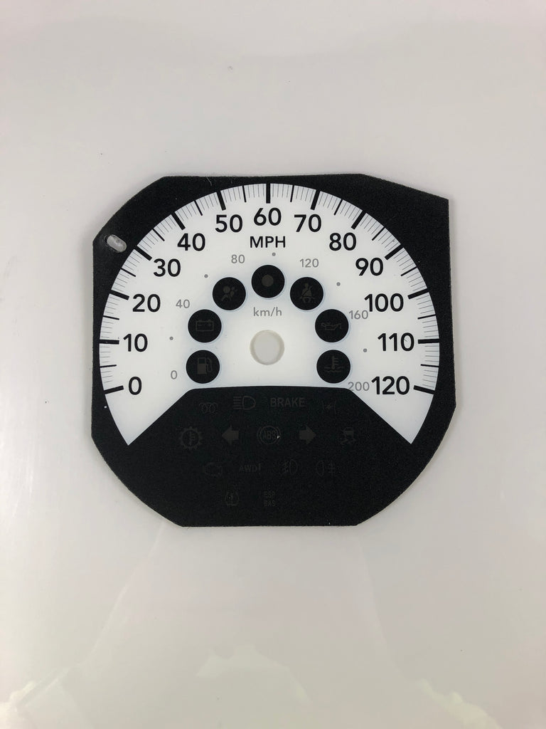 2007-2009 Dodge Caliber MPH Conversion Gauge Face