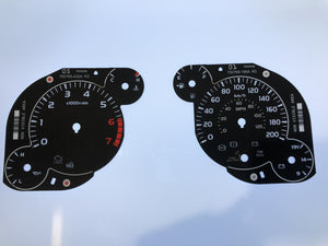 2014-2016 Toyota Tundra KM/H Conversion Gauge Face