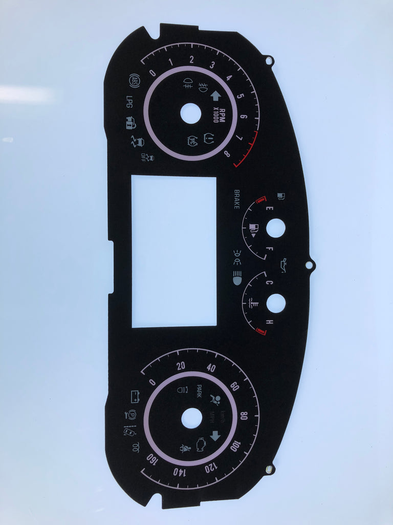2016 Buick Regal MPH Conversion Gauge Face
