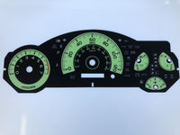 2007-2010 Toyota FJ MPH Conversion Gauge Face (Automatic)