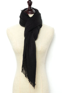 Black Square Scarf by Just Cozy.