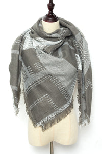 Grey Square Scarf by Just Cozy.