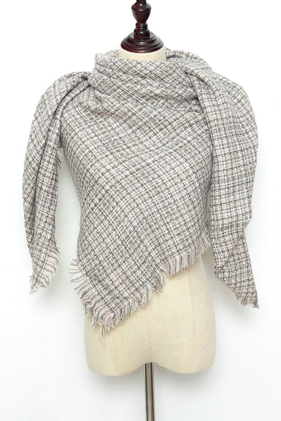 Beige Square Scarf by Just Cozy.