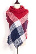 Load image into Gallery viewer,  Plaid Blanket Scarf by Just Cozy.