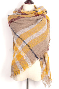 Plaid Blanket Scarf by Just Cozy.