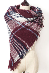 Square scarf by Just Cozy.