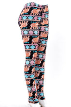 Load image into Gallery viewer, Elephant print fur-lined leggings with 4 way stretch by Just Cozy.