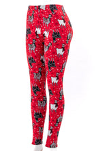 Load image into Gallery viewer, Christmas Llama - Fur Lined Leggings