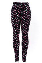 Load image into Gallery viewer, Paw print fur-lined leggings with 4 way stretch by Just Cozy.