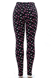 Paw print fur-lined leggings with 4 way stretch by Just Cozy.