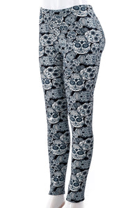 Skull Fever - Fur Lined Leggings
