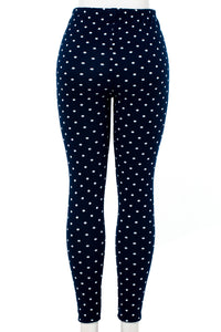 Polka Dott'd - Fur Lined Leggings