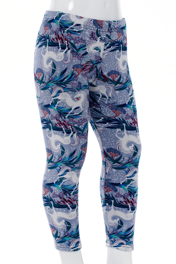 Winter Unicorns Kids Leggings