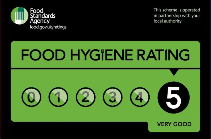 Cakesburg Food Hygiene Rating is 5