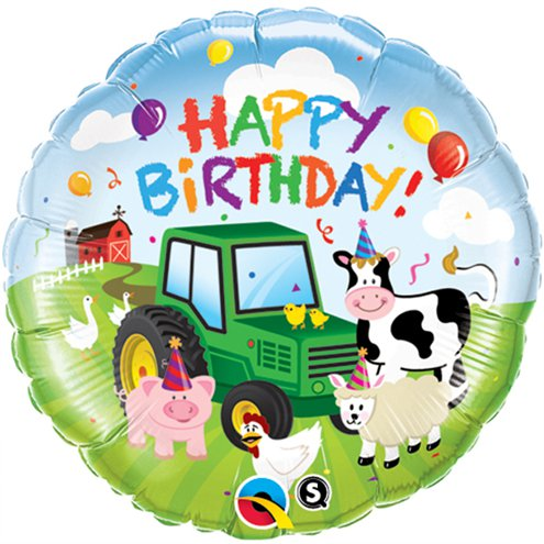 "18"" Happy Birthday Barnyard Balloon (HELIUM FILLED)"