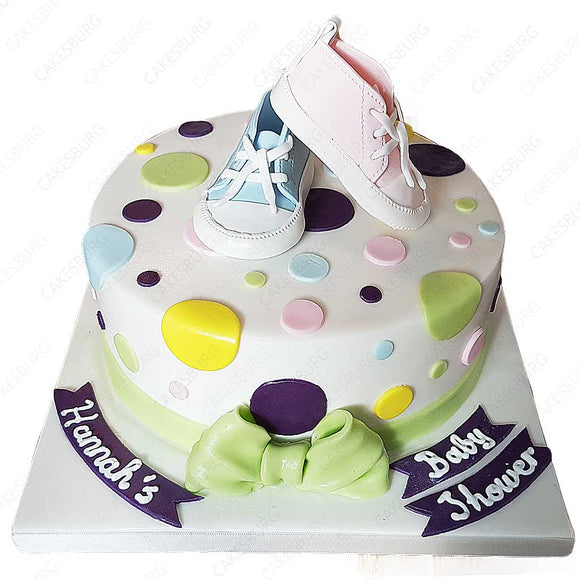 Baby Shoes (Baby Shower) Cake #2