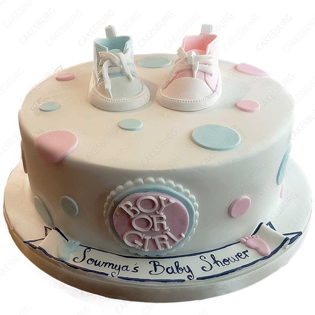 Baby Shoes Shower Cake