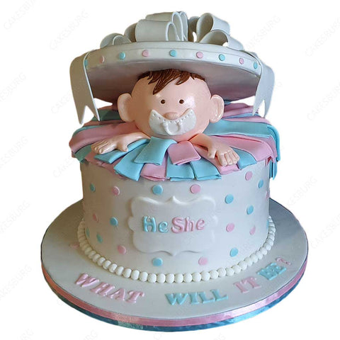 Baby In The Gift Box Cake