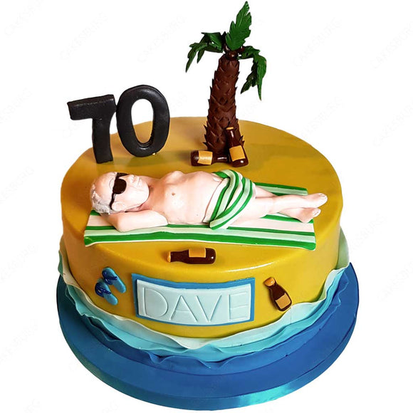 Retirement Beach Cake